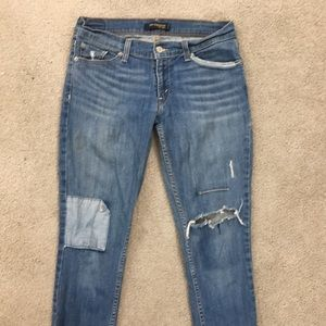 Levi's super low cropped sz 9 x 21 like boyfriend